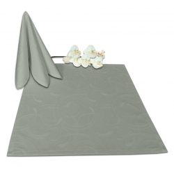 Салфетки 45х45 см ткань Ричард 2131 (круги) цвет серый
