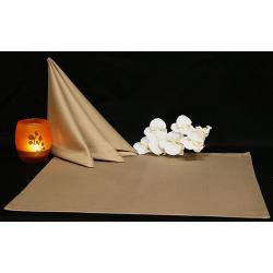 Салфетки 45х45 см ткань Saten без рисунка цвет серый