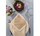 Салфетки 45х45 см ткань Saten-bicolor без рисунка цвет бежевый