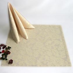 Салфетки 45х45 см ткань Lira вензель цвет бежевый
