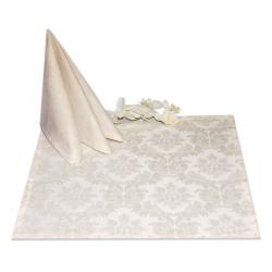 Салфетки 45х45 см ткань Madrid вензель цвет кремовый
