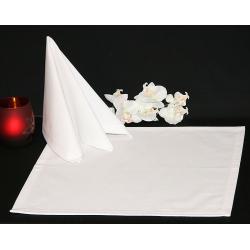 Салфетки 45х45 см ткань Menorca без рисунка цвет белый