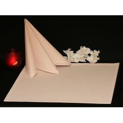 Салфетки 45х45 см ткань Menorca без рисунка цвет бежевый