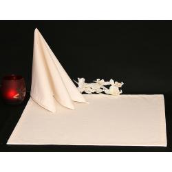 Салфетки 45х45 см ткань Menorca без рисунка цвет шампань