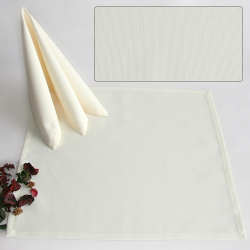Салфетки 45х45 см ткань Mia без рисунка цвет шампань