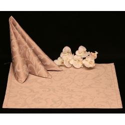 Салфетки 45х45 см ткань Milan вензель цвет бежевый