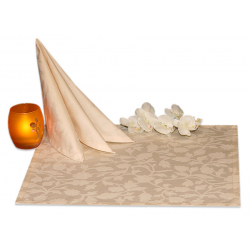 Салфетки 45х45 см ткань Nijar вензель цвет шампань