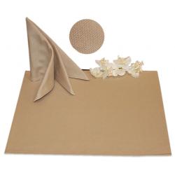 Салфетки 50х50 см ткань Panama без рисунка цвет бежевый