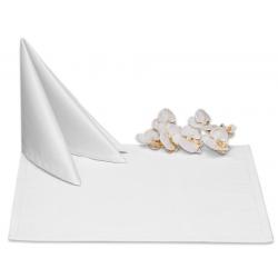 Салфетки 45х45 см ткань Saten без рисунка цвет белый