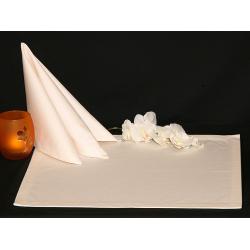 Салфетки 45х45 см ткань Saten без рисунка цвет шампань