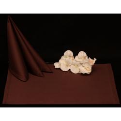Салфетки 45х45 см ткань Saten без рисунка цвет коричневый