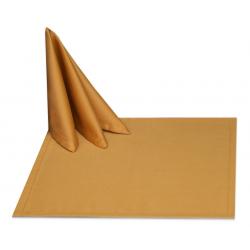 Салфетки 45х45 см ткань Saten без рисунка цвет золотой