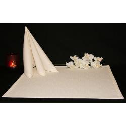 Салфетки 45х45 см ткань Triana без рисунка цвет слоновая кость