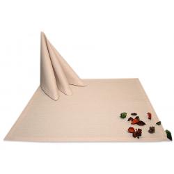 Салфетки 45х45 см ткань Triana без рисунка цвет кремовый