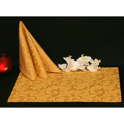 Салфетки 45х45 см ткань Venecia вензель цвет золотой