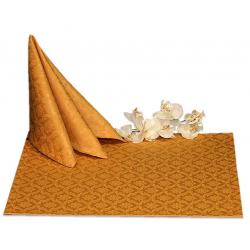 Салфетки 45х45 см ткань Vigo вензель цвет золотой