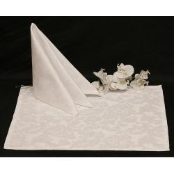 Салфетки 45х45 см ткань Rioja вензель цвет белый