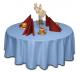 Скатерть круглая ткань Ричард без рисунка цвет голубой