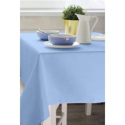 Скатерть 160х140 см. ткань Ричард цвет голубой
