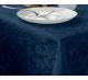 Скатерть прямоугольная с водоотталкивающей пропиткой ткань Ричард 1589 (цветы) цвет синий