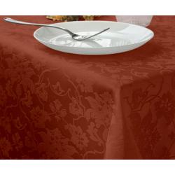 Скатерть прямоугольная с водоотталкивающей пропиткой ткань Ричард 1589 (цветы) цвет терракотовый