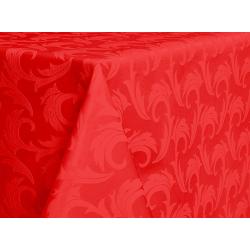 Скатерть прямоугольная ткань Ричард рисунок 1625 (перья) цвет красный