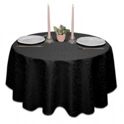 Скатерть круглая ткань Ричард 1751 цвет черный