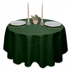 Скатерть круглая ткань Ричард 1751 цвет зеленый