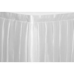 Фуршетная юбка на стол цвет белый коэффициент складок 1:3