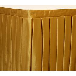 Фуршетная юбка на стол длина 260 см. цвет золотой коэффициент складок 1:3
