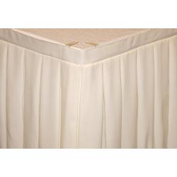 Фуршетная юбка на стол цвет молочный коэффициент складок 1:3 длина 500 см. ткань габардин