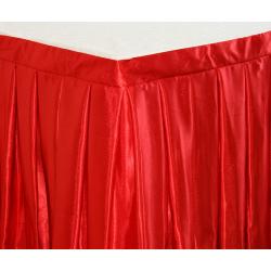 Фуршетная юбка на стол цвет красный коэффициент складок 1:3 длина 280 см.