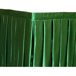 Фуршетная юбка на стол цвет зеленый коэффициент складок 1:3